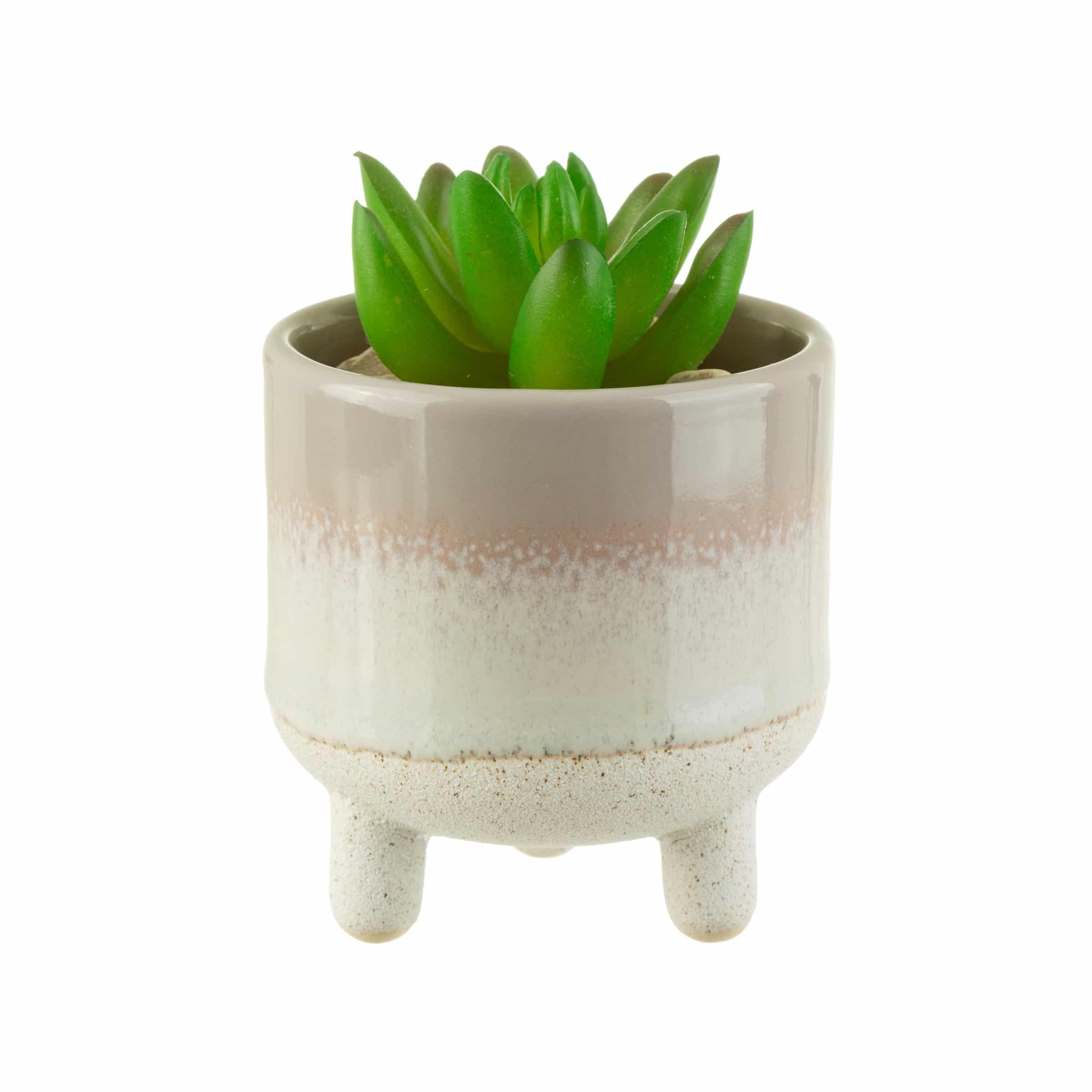 Bohemian Grey Planter on Legs with plant