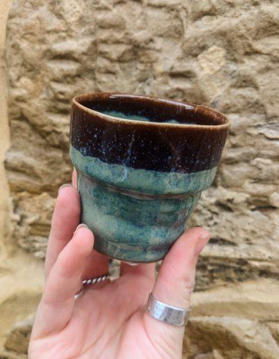 Green Tiny Glazed Pot