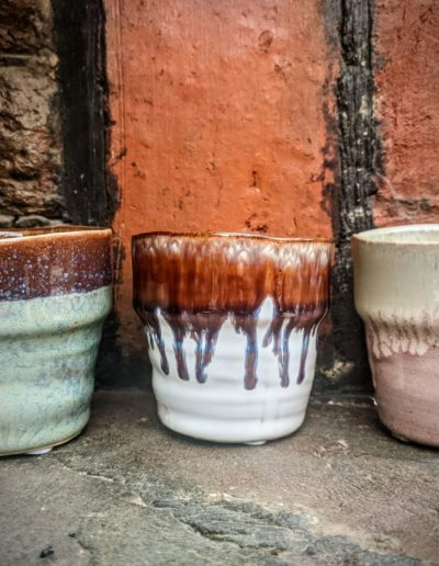 Earthy Trio of Glazed Pots