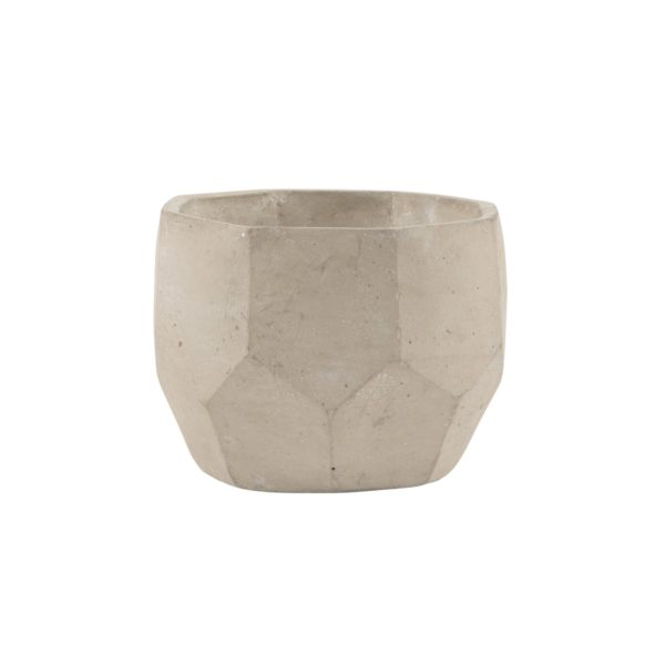 Geometric Cement Planter (white background)