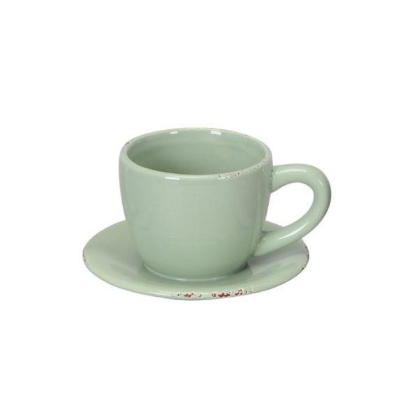 Green teacup plant pot