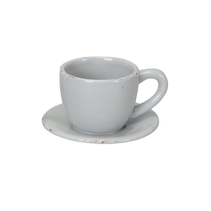 Grey Teacup Plant Pot