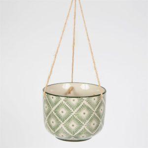 Hanging green & cream ceramic dream