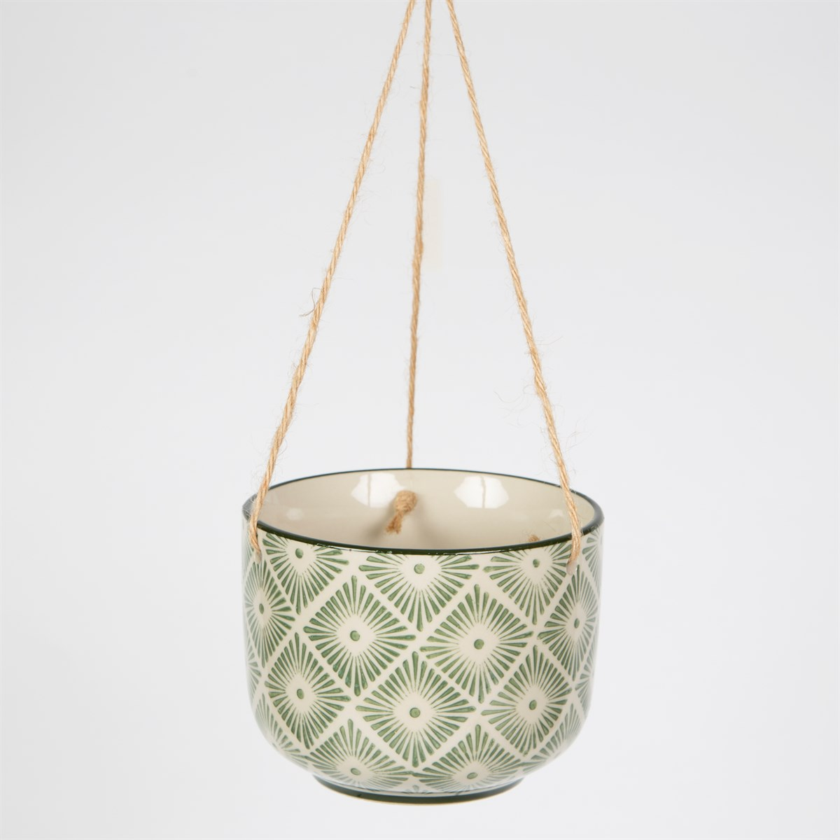 Hanging green & cream ceramic dream