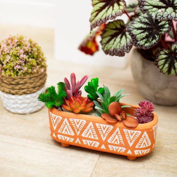 Mini Aztec Terracotta Planter Box