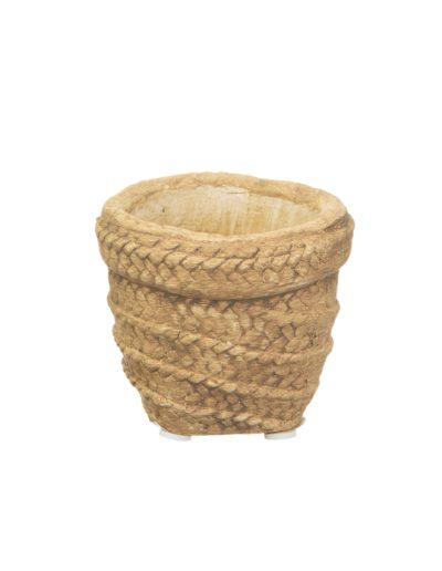 Mini woven look basket pot
