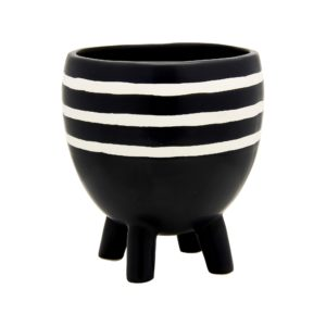 Monochrome Striped Pot