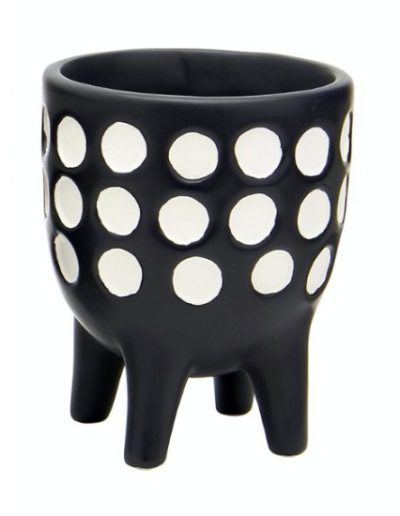 Monochrome Tiny Polka Dot Pot