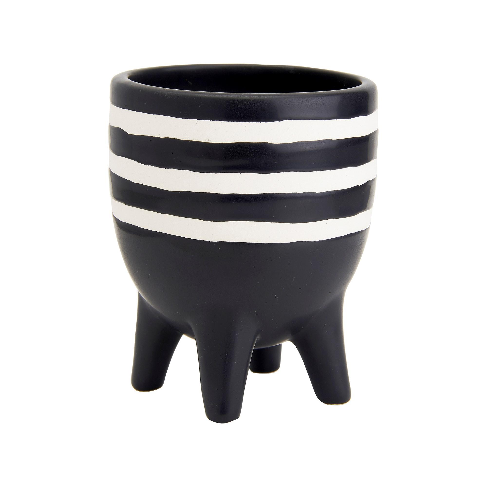 Monochrome Tiny Striped Pot