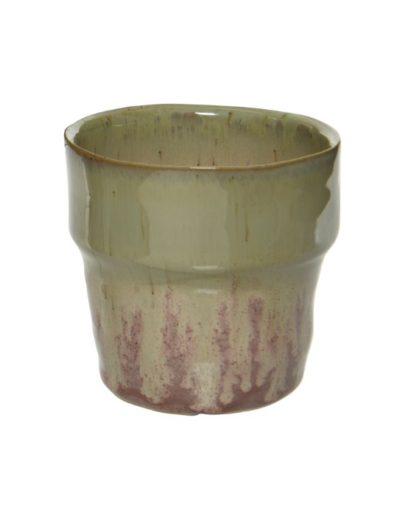 Pink and Green Mini Glazed Succulent Pot