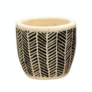 Scandi Style Chevron Stripes Pot