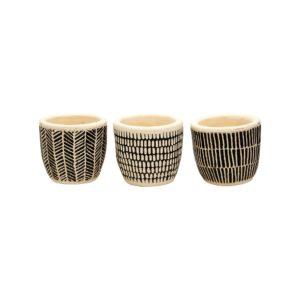 Trio of Scandi Style Pots