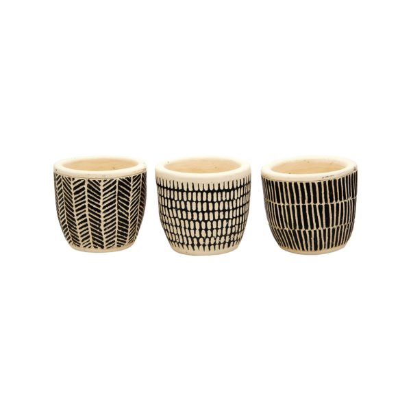 Trio of Scandi Style Pots