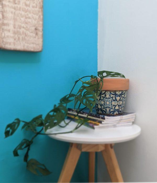 Vintage Terracotta Blue