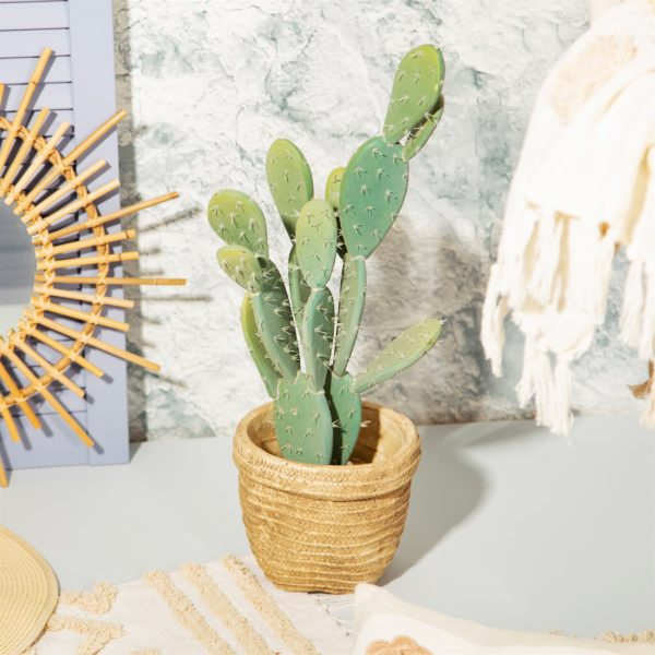 Woven Look Basket Style Planter