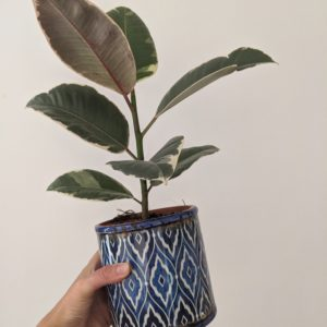 Vintage Blue Pattern Planter