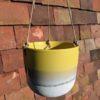 Yellow Stoneware Hanging Planter