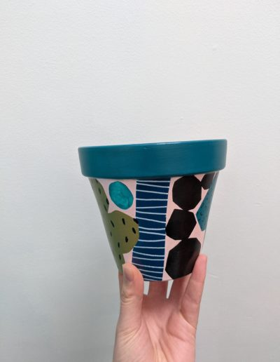 Abstract Painted Plant Pot