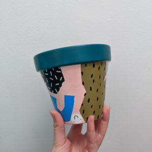 Hand Painted Terracotta Pot