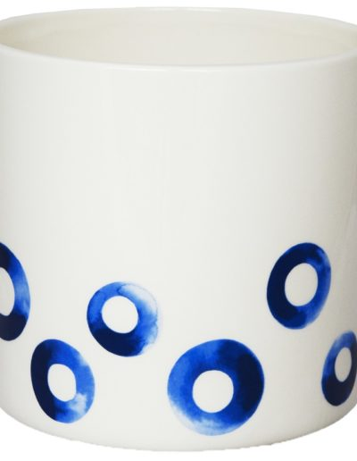 Blue Spotted Pot