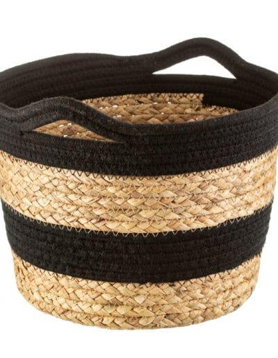 Black Rope & Seagrass Storage Basket