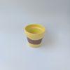 Tiny hand painted terracotta pot