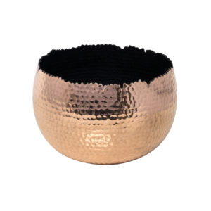 Hammered Copper Bowl Planter